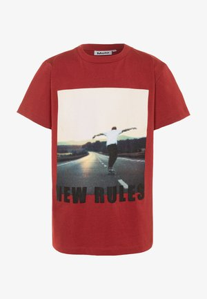 ROXO - Print T-shirt - dark red