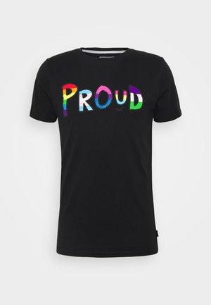 PRIDE LOGO TEE  - Print T-shirt - black