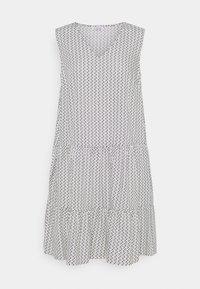 Re.draft - PRINTED VOLANT DRESS DOTS - Sukienka letnia - white - 0