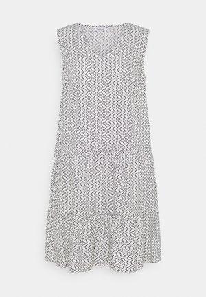PRINTED VOLANT DRESS DOTS - Vestito estivo - white