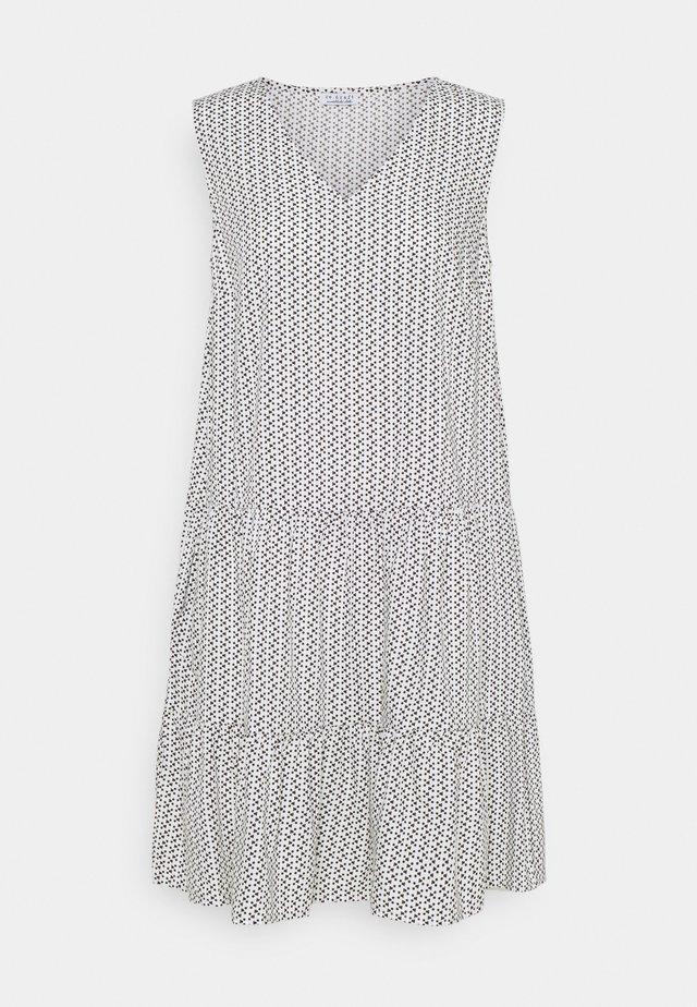 PRINTED VOLANT DRESS DOTS - Kjole - white