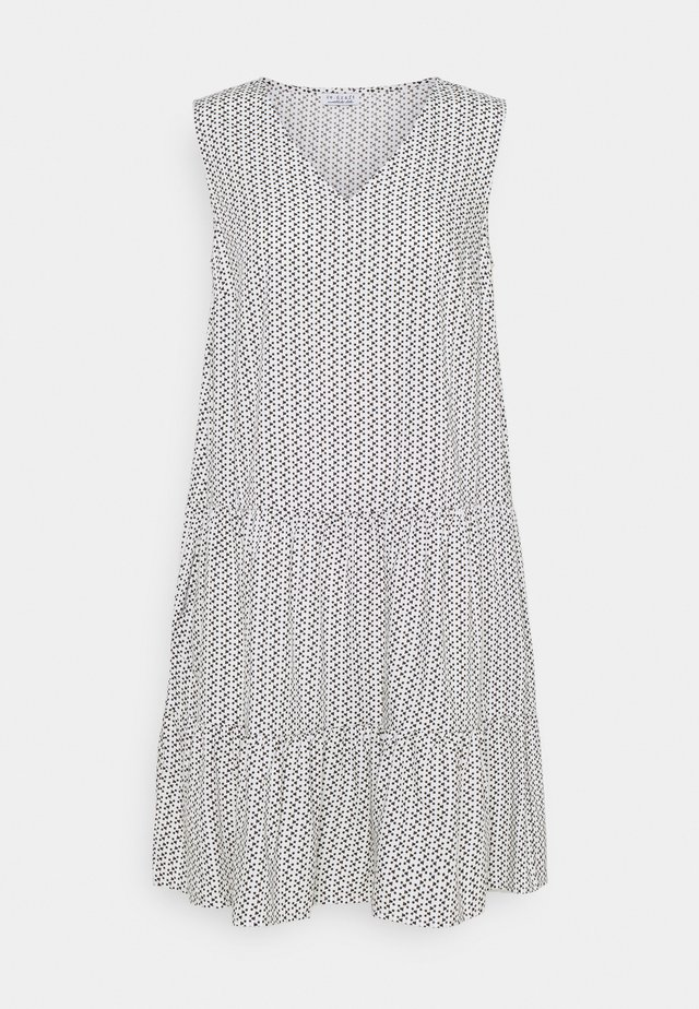 PRINTED VOLANT DRESS DOTS - Vestido informal - white