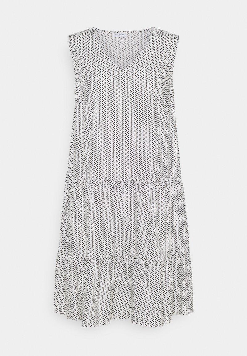 Re.draft - PRINTED VOLANT DRESS DOTS - Sukienka letnia - white