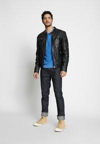 Goosecraft - BIRMIGHAM BIKER - Leather jacket - black - 1