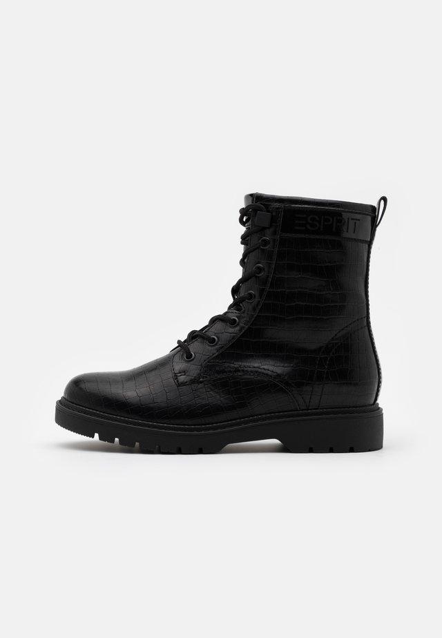 PARIS CROC BOOT - Bottines à lacets - black