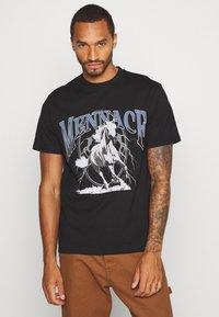 Mennace - LIGHTNING FAST TEE - T-shirt med print - black - 0