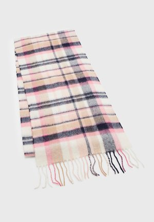 VINTAGE WINTER PLAID SCARF - Scarf - pink/hessian