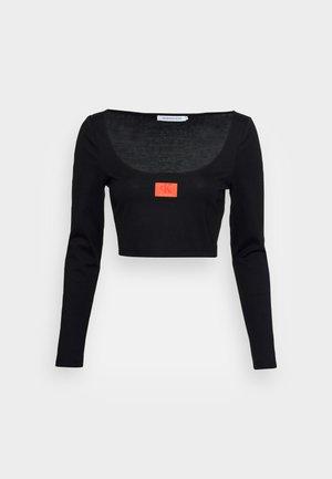 SCOOP NECK TEE - Langarmshirt - black