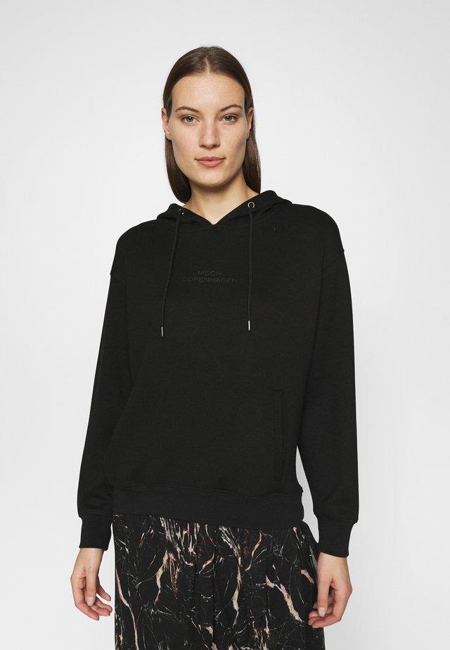 LOGO HOOD - Bluza z kapturem - black