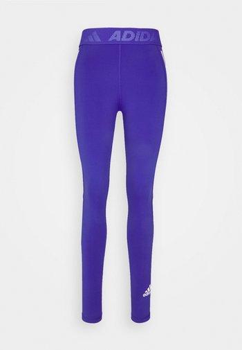 TECHFIT STRIPES LONG - Leggings - royal blue