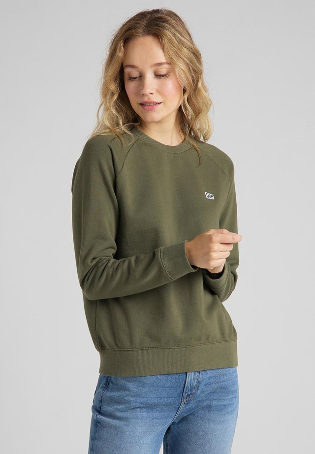 Sweatshirt - olive green