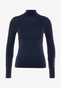 Tommy Sport - MOCK LONGSLEEVE BASELAYER - Long sleeved top - blue - 3