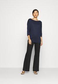 Sisley - Long sleeved top - dark blue - 1
