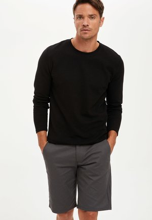 MAN - Strickpullover - black