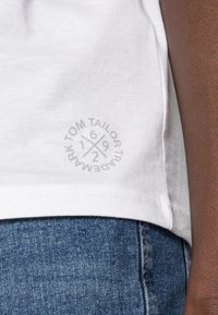 TOM TAILOR - DOUBLE PACK CREW NECK TEE - T-shirt - bas - white - 4