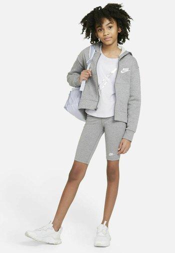 Zip-up sweatshirt - carbon heather white