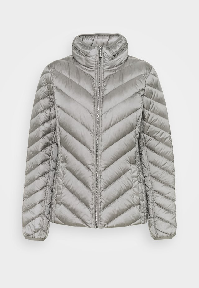 SHORT PACKABLE PUFFER - Dunjakke - concrete