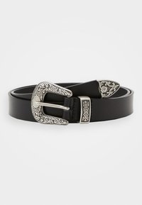 Zign - Unisex leather Belt - Pasek - black - 0
