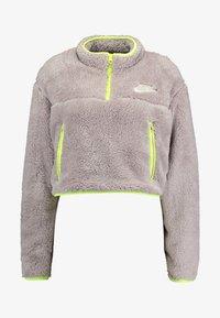 Nike Sportswear - CROP - Mikina - pumice/volt/desert sand - 3