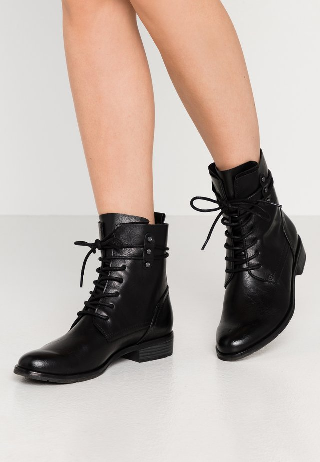 BOOTS - Stivaletti stringati - black antic