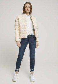 TOM TAILOR DENIM - Jeans Skinny Fit - used dark stone blue denim - 1
