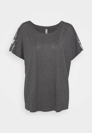 ONPSUE LIFE LOOSE TEE CURVY - Sports shirt - dark grey melange