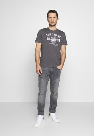 2 PACK - Print T-shirt - cyber grey