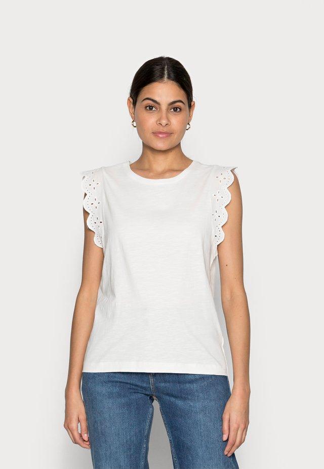ANGLAIS - T-shirt z nadrukiem - off white