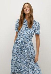 Mango - SHIRTY - Shirt dress - azul - 2