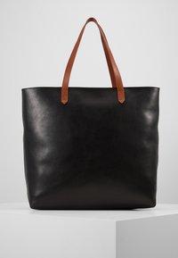 Madewell - ZIP TOP TRANSPORT TOTE - Tote bag - true black/brown - 0