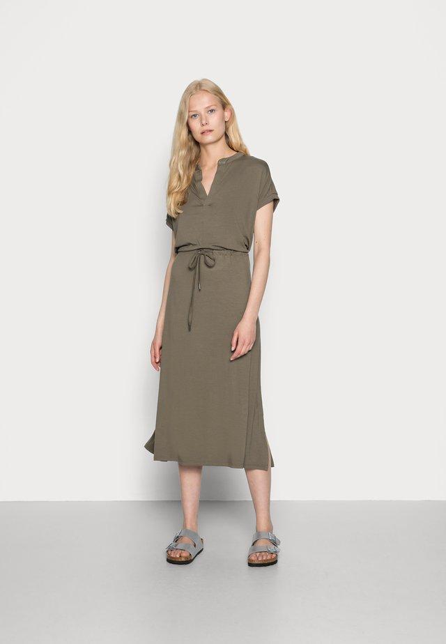 DRESS - Sukienka z dżerseju - dark khaki