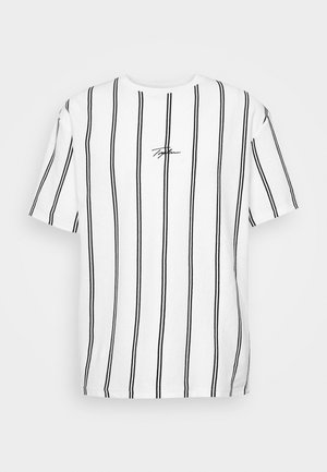 STRIPE SIGNATURE TEE - T-shirt z nadrukiem - white