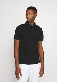 Polo Ralph Lauren - SLIM FIT MESH POLO SHIRT - Polo shirt - black - 0