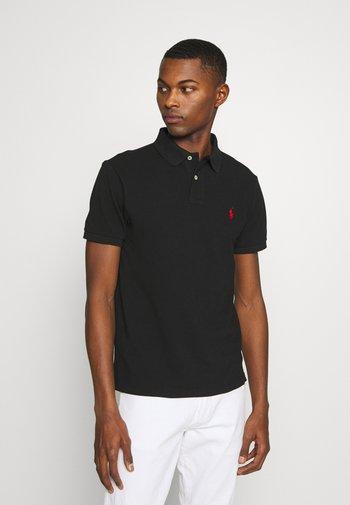 SLIM FIT MESH POLO SHIRT - Polo shirt - black