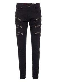 Cipo & Baxx - CASUAL SUMMER MIT REISSVERSCHLUSS - Slim fit jeans - black - 0