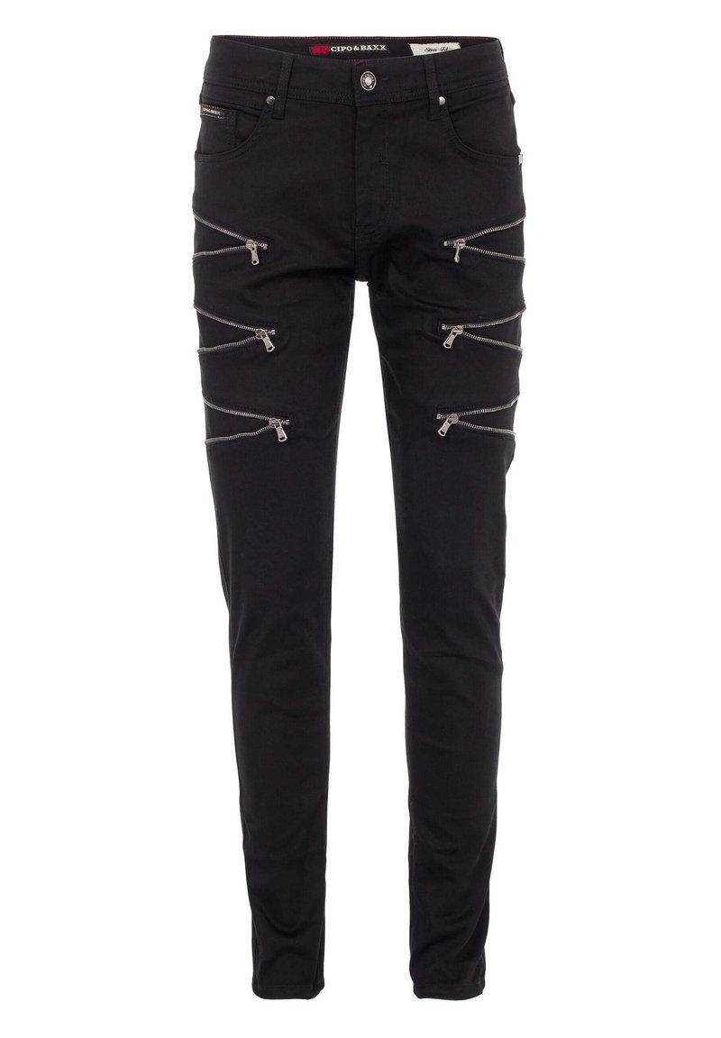 Cipo & Baxx - CASUAL SUMMER MIT REISSVERSCHLUSS - Slim fit jeans - black