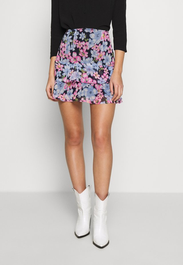 LOLA SKYE DOUBLE PEPLUM  SKIRT - A-line skirt - multi coloured