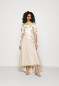 Adrianna Papell - EMBROIDERED GOWN - Abito da sera - champagne/ivory - 0