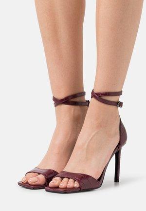 ONLALYX CROC - High heeled sandals - bordeaux