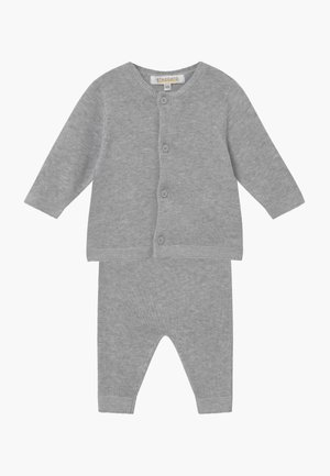 SET - Cardigan - mottled grey
