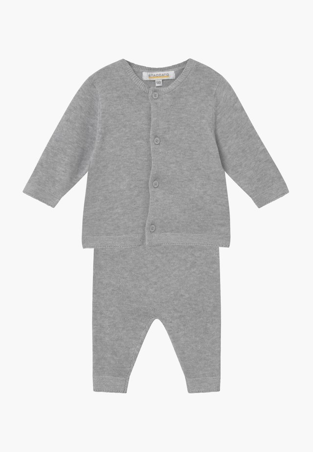 SET - Neuletakki - mottled grey