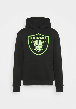 NFL LAS VEGAS RAIDERS NEON POP CORE GRAPHIC HOODIE - Sweatshirt - black