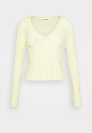 BUTTON CARDI - Cardigan - lemon