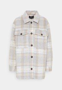 ONLROSIE CHECK SHACKET - Short coat - pumice stone/black/grey