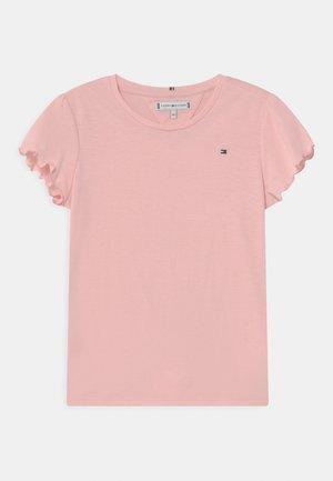 ESSENTIAL RUFFLE SLEEVE - Triko spotiskem - delicate pink