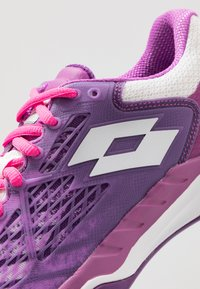 Lotto - MIRAGE 100 CLY - Clay court tennis shoes - purple willow/all white/funky pink - 6