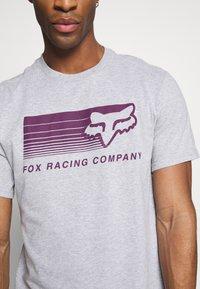 Fox Racing - DRIFTER TEE - T-Shirt print - light heather grey - 4