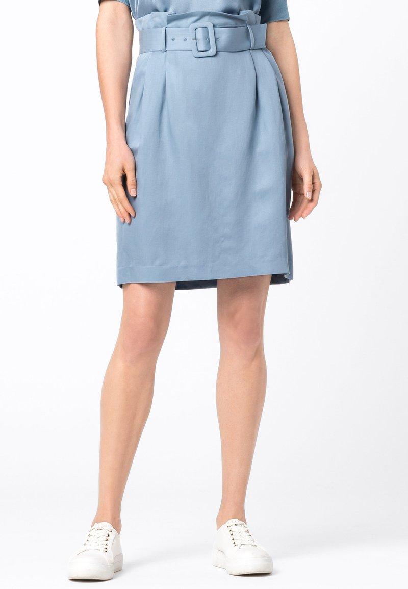 HALLHUBER - Pencil skirt - hellblau