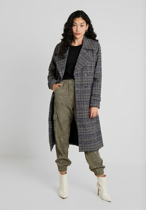 OBJMELIA COAT  - Zimní kabát - black/multi