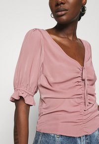 Abercrombie & Fitch - CINCH FRONT PUFF - Blus - rose - 5